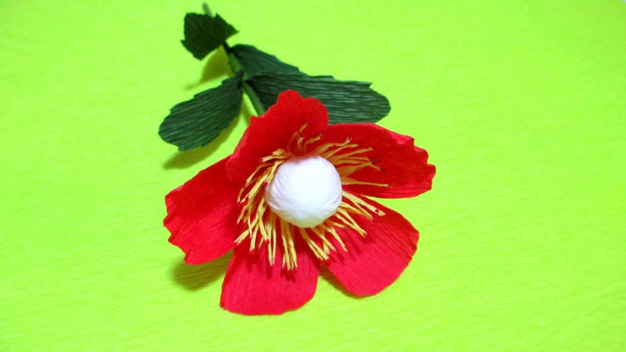 How To Make Cute Beautiful Paper Flowers Flower Making Of Crepe