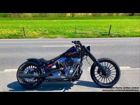 Harley-Davidson FXSB Breakout Rideout //19 04 19 - YouTube