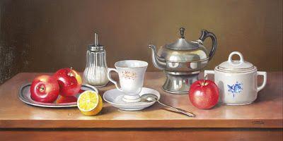 لوحات رسم من فن الستلايف Still Life Painting Sugar Bowl Set Bowl Set Decorative Jars
