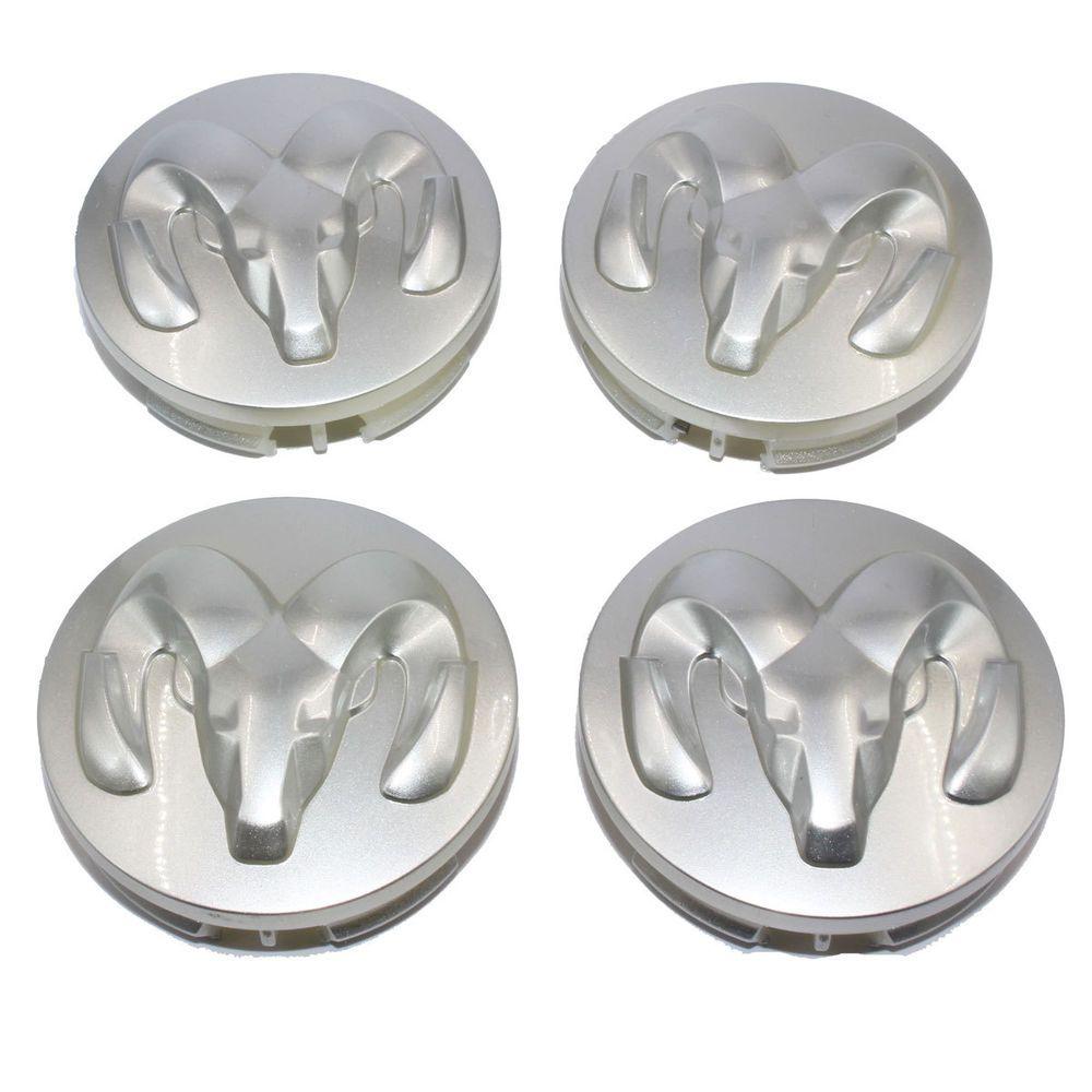 Silver Wheel Center Hub Cap Tire Emblem Decal Cover For Dodge Dakota Ram Durango Ebay Hub Caps Emblems Wheel