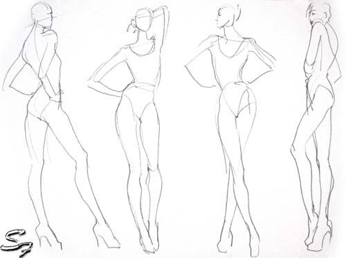 Fashion Model Sketch and Croquis for Newbie3 Fashion templates