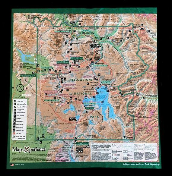 Yellowstone National Park Bandana Map - Morning Glory ...