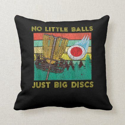 Retro Adult Disc Golf Humor Basket Chains Disc Gol Throw Pillow | Zazzle.com