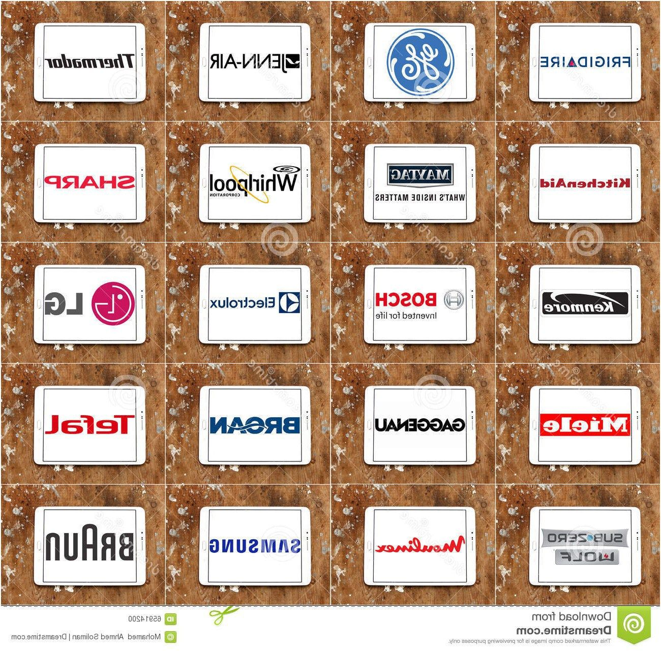Top Famous Kitchen Appliance Brands And Logos Editorial Image From