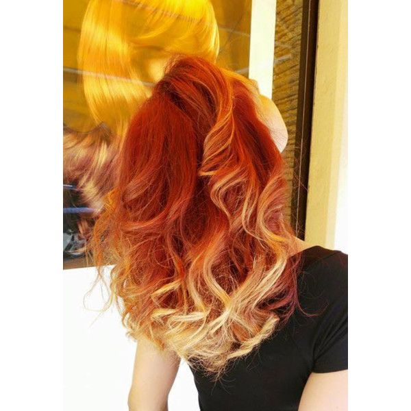 Fire Red Orange Ombre Bright Red Orange Weft Hair Extensions Sew In Red And Blonde Hair Hand Ti Red Orange Hair Ombre Hair Blonde Ombre Hair Extensions