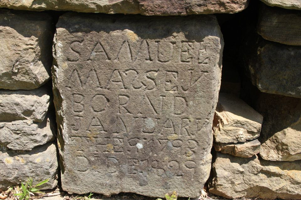 Grave marker of one of Argo's first citizens, Samuel Massey...photo by Vernon Stidham of Argo