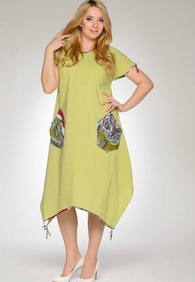 ac06b0e50c5 Льняные платья и сарафаны для полных женщин (44 фото) больших размеров   фасоны и модели