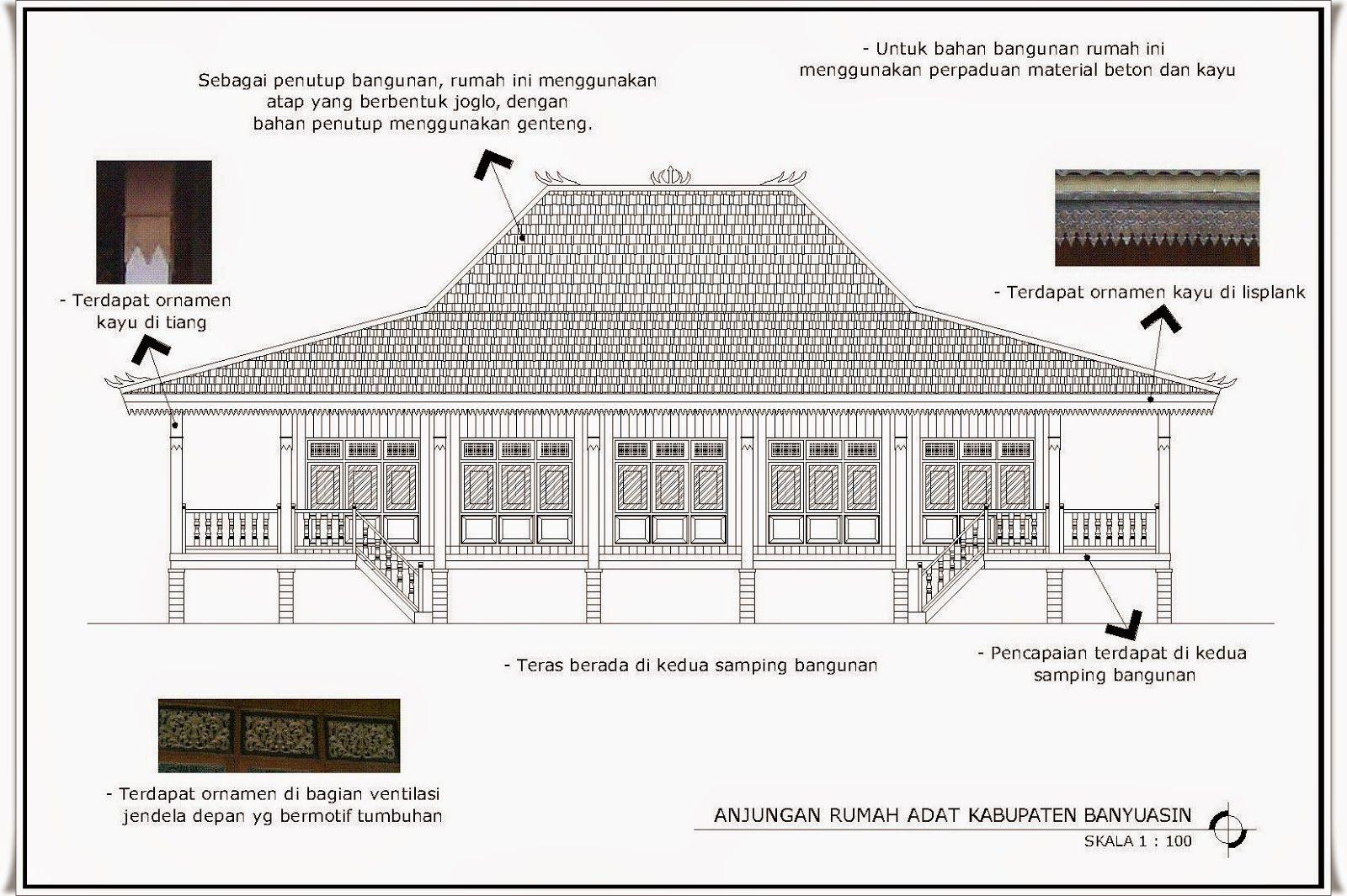Gambar Rumah Adat Sumatera Selatan