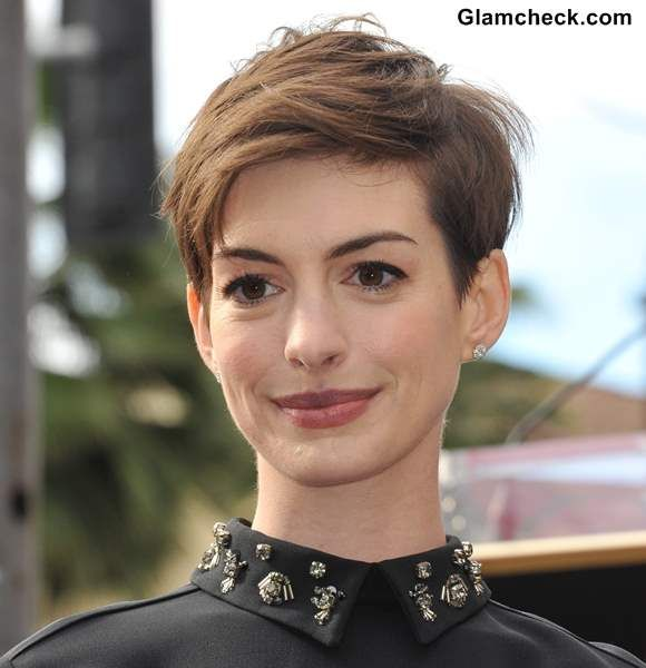 Anne Hathaway - Textured Pixie Hairstyle