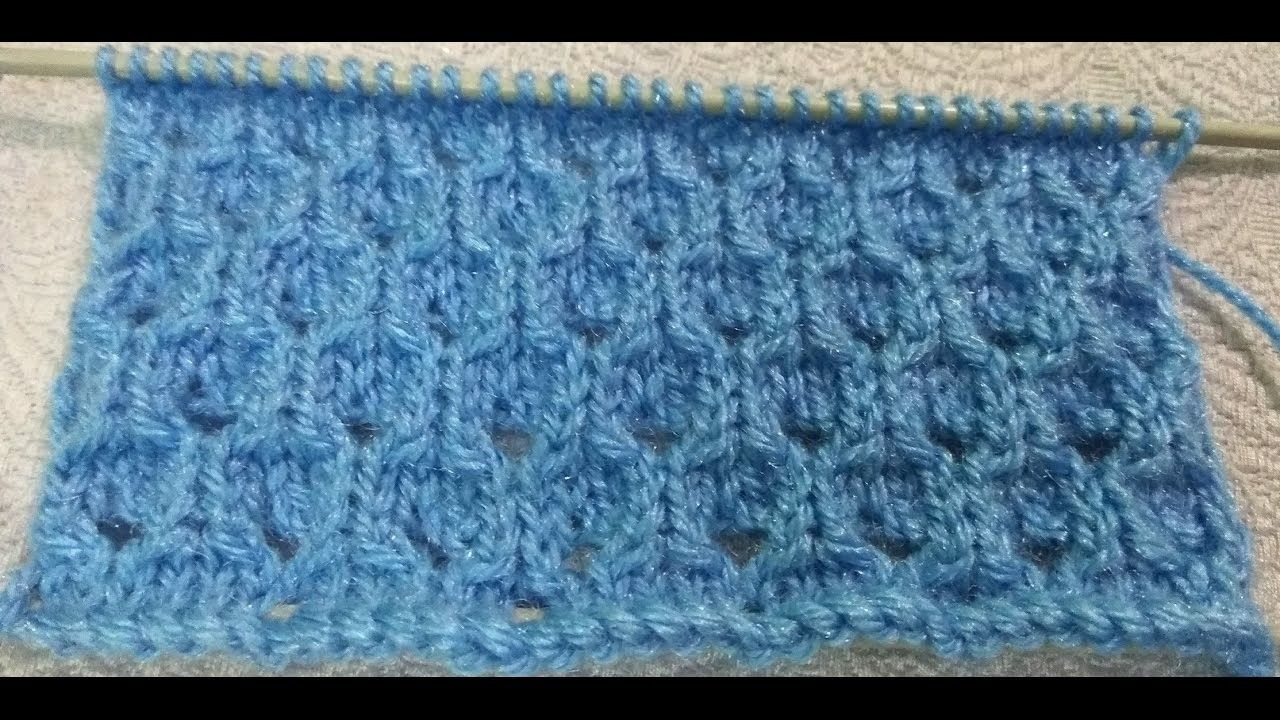 Easy Single Color Knitting Design No.52 | Knitting designs, Knit ...