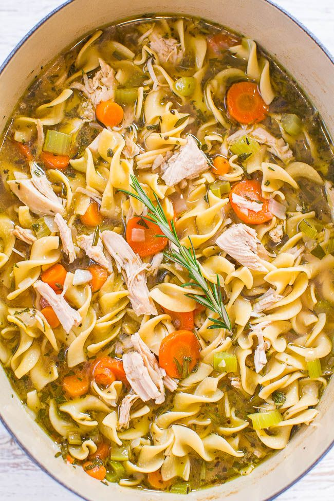 Photo of Easy 30-Minute Turkey Soup (with Noodles!) – Averie Cooks