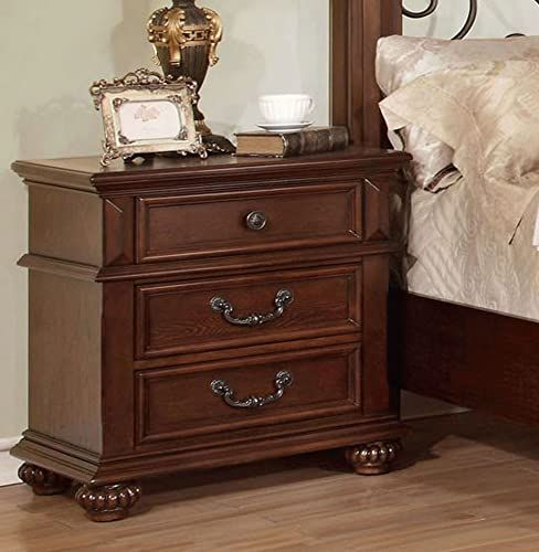 Enjoy exclusive for Furniture America Landaluce Antique Dark Oak Nightstands online - Lovetopfashion