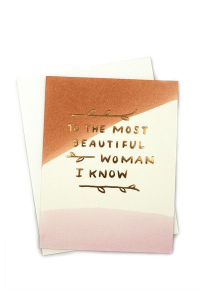 Beautiful Woman Card. For Mother's Day!