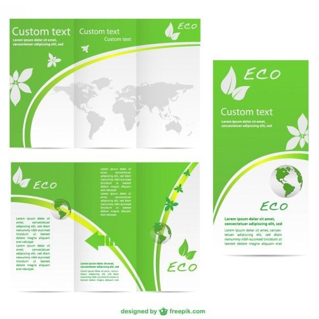 Free Brochure Templates Green Brochure Template Vector  Free