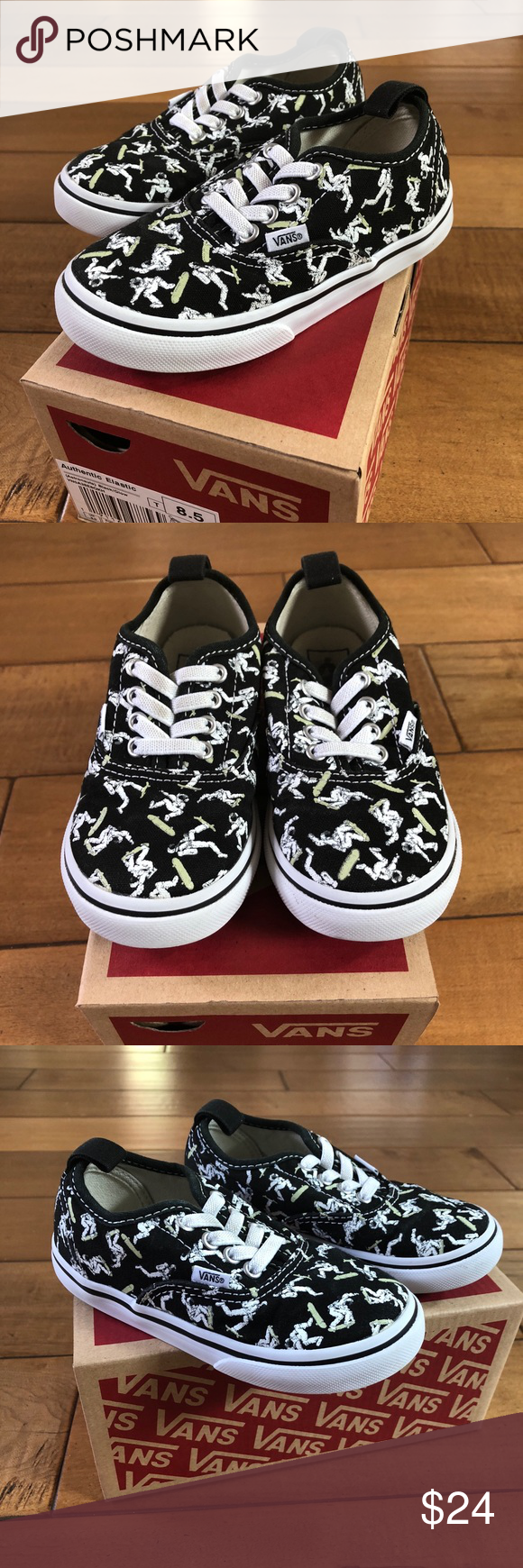 b51f783806 Vans Glow Astronauts Slip On Shoes Toddler Sz 8.5 Vans Awesome Glow in the  Dark Authentic Elastic Slip On style shoes! Astronauts on skateboards glow  in the ...