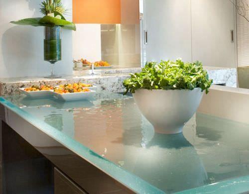 Glas-Arbeitsplatte / für Küchen SLEEK GLASS ThinkGlass | Future ...