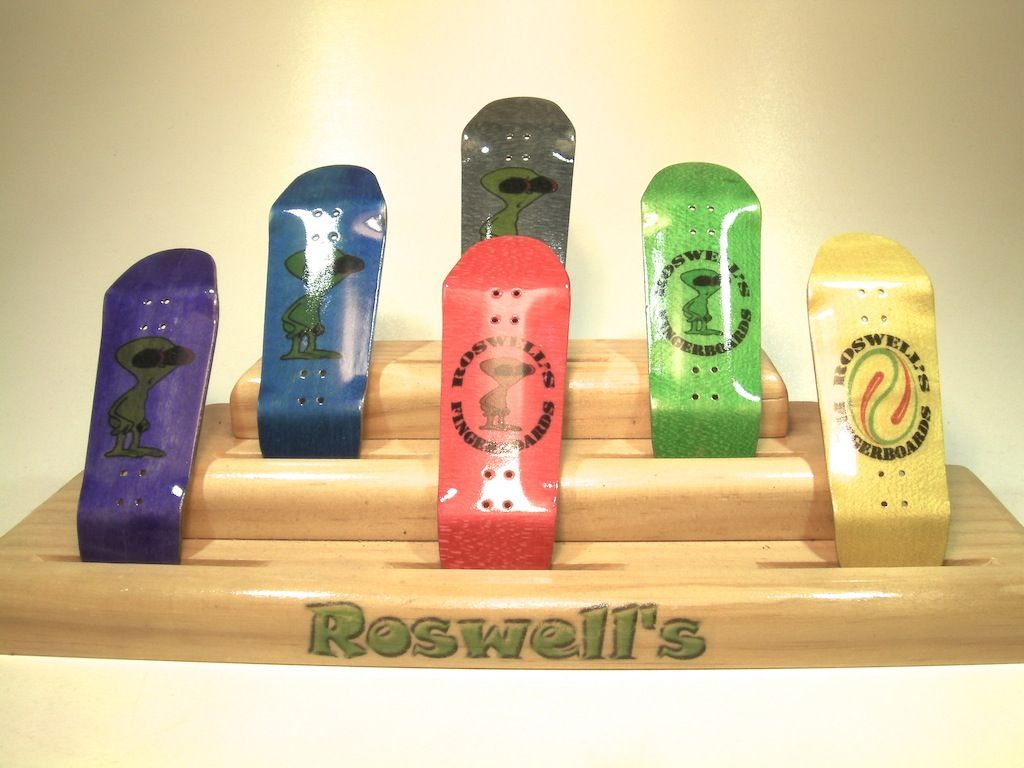 Roswell\'s RD-4 Fingerboard Decks (Stained) | Roswell\'s Skateboards ...