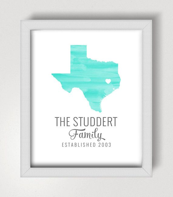Personalised Home Is Where New Home Gift Print By: Custom State Print - 8x10 - Personalized