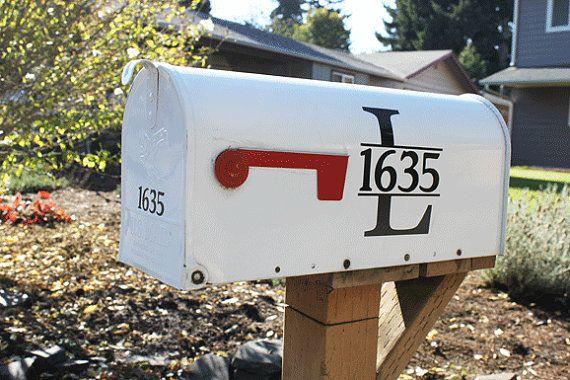 Custom Mailbox Vinyl Lettering Home Decor Vinyl Letters Etsy