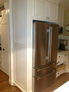 Wainscotting Gabled Ends Refrigerator Cabinet Kitchen