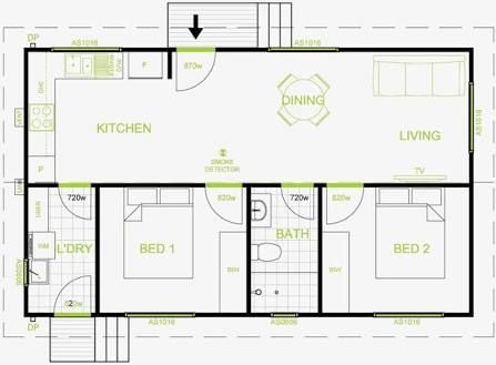 Image Result For Granny Flat Plan 60 Square Meters