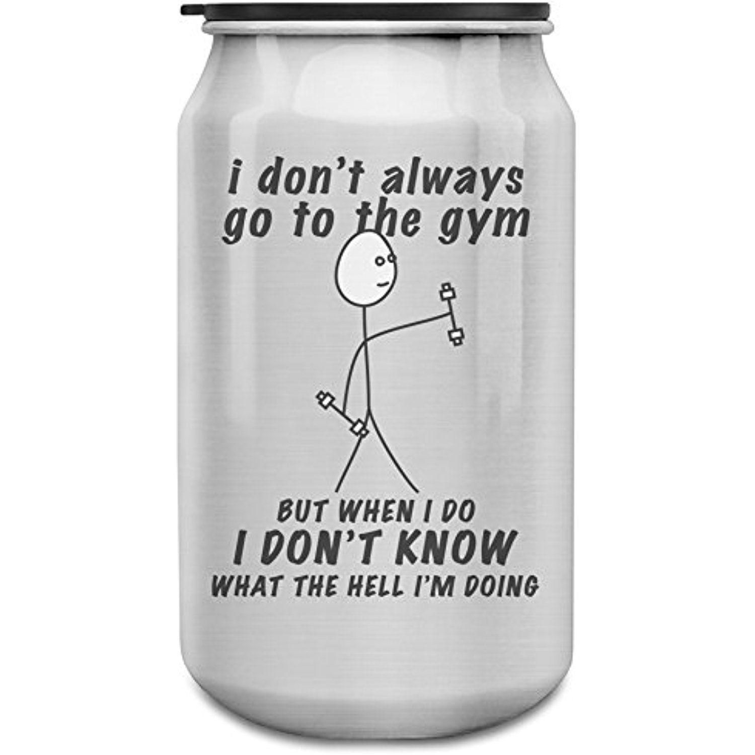 I don't always go to the gym 350ml Aluminium Cans Bottle
