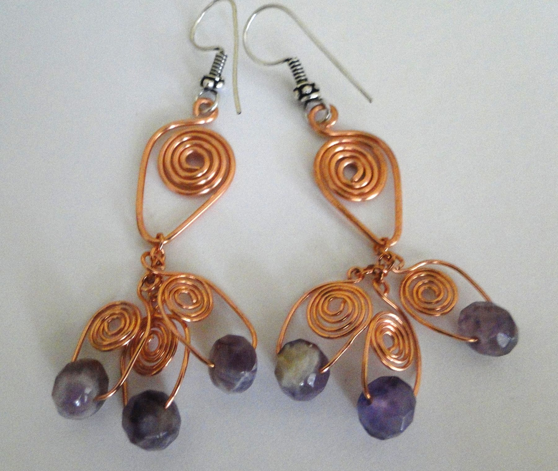 Phenomenal Wire Spiral Earrings Tutorial From Wire Sculpture Wire Earrings Wiring Cloud Hisonuggs Outletorg