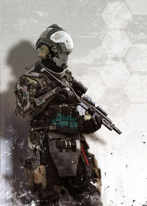 Exo Soldier By Chris Holland Futuristic Armour