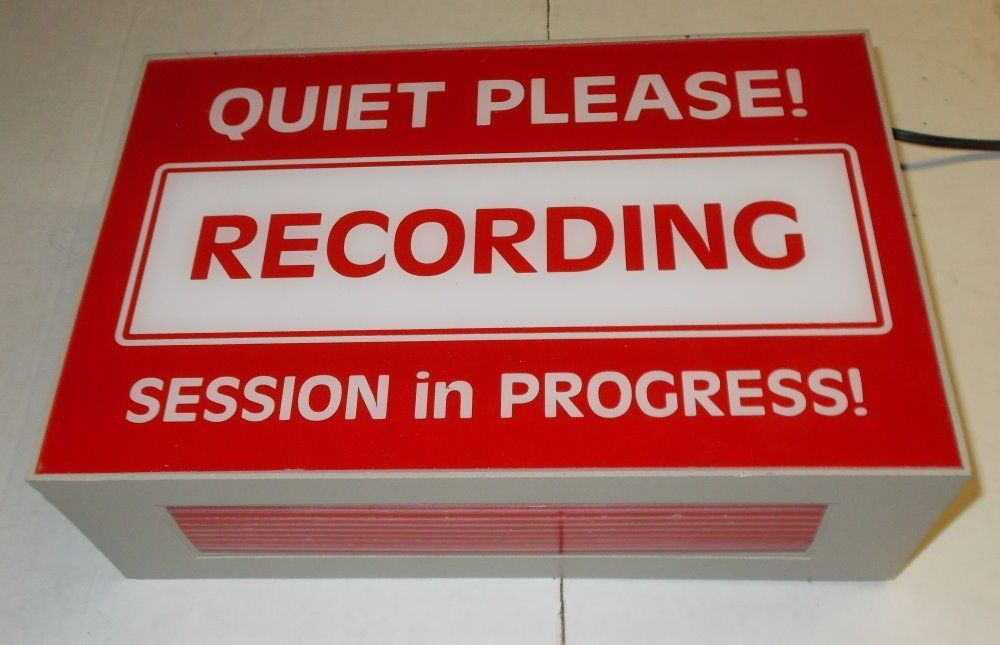 quiet please recording session in progress lighted sign maker