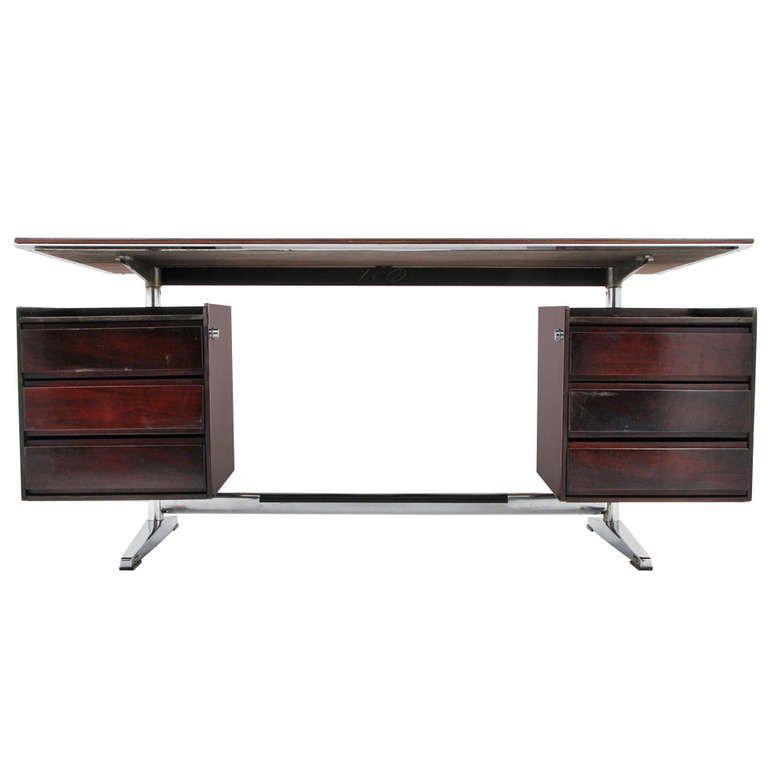 Gio Ponti Rosewood Desk Escritorios, Diseño de muebles y Mesas - diseo de escritorios