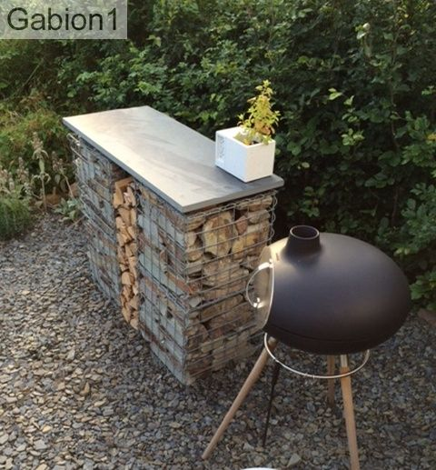 gabion table and cooker