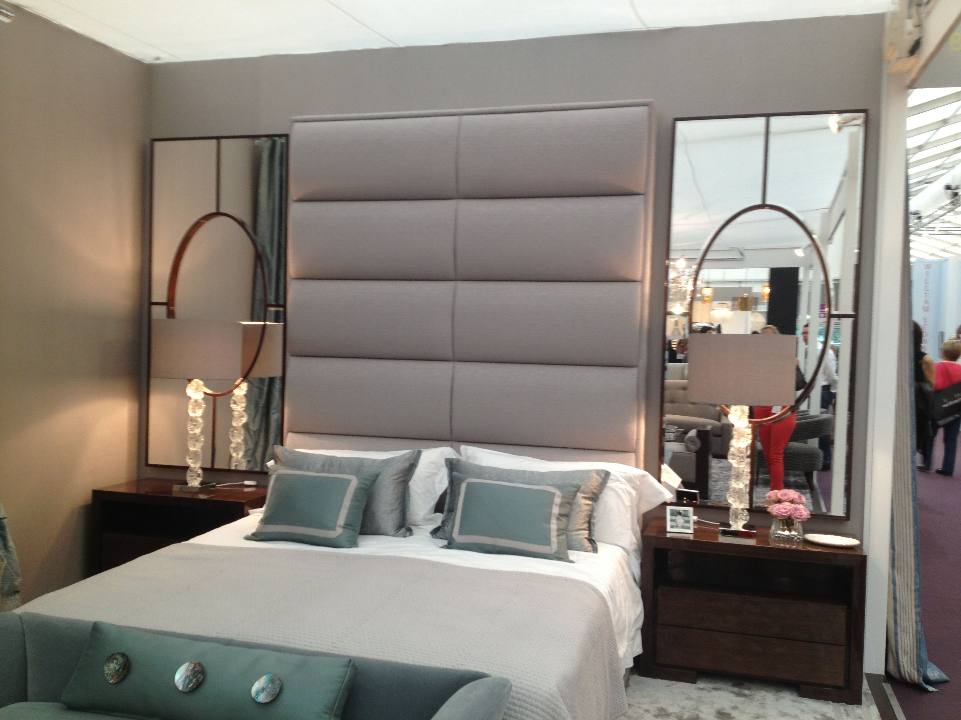 Mirrors Behind Bedside Table Mirror Bedroom Decor Luxurious