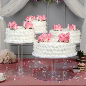 BalsaCircle Clear 7 Tiers Wedding Party Cup Cake Stand - Party Dessert Display Pedestal Riser - Walmart.com