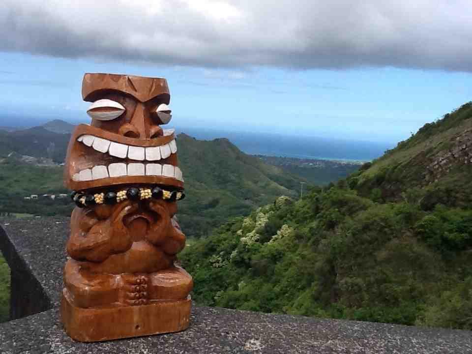 Tiki Tourist at Pali Lookout