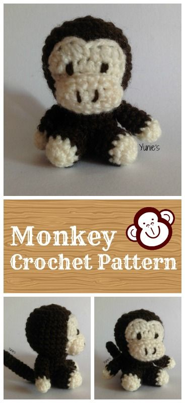 Monkey Amigurumi Crochet Pattern | Pins & Needles | Pinterest