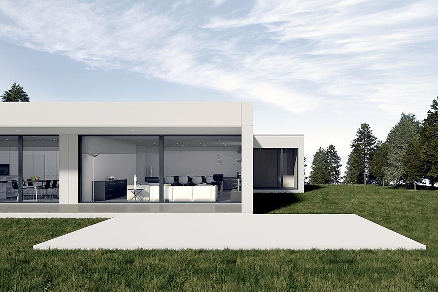 Casas prefabricadas homm mediterranean casas for Casas prefabricadas hormigon modernas