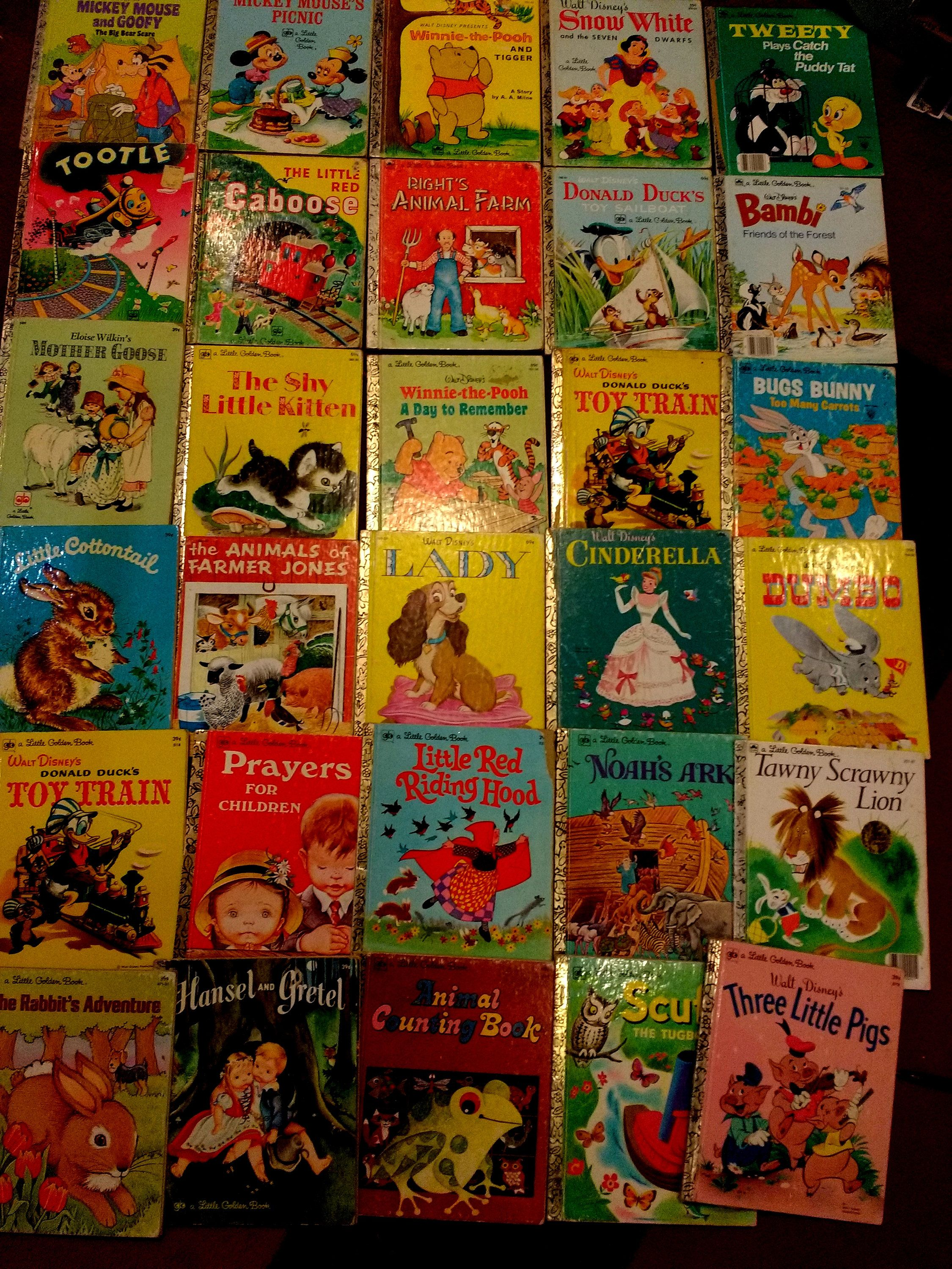 Large Lot Vintage Little Golden Books 1970s Disney Eloise