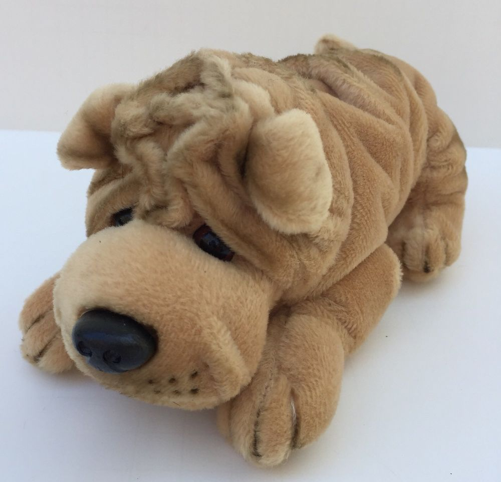 A A Plush Shar Pei Brown Dog Wrinkled Puppy Stuffed Animal Toy 8 Sharpei Lovey Aa Wrinkle Dogs Pet Toys Pet Puppy [ 961 x 1000 Pixel ]