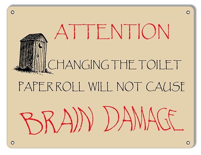 Attention Change Toilet Paper Restroom Reproduction Sign 9″x12 ...