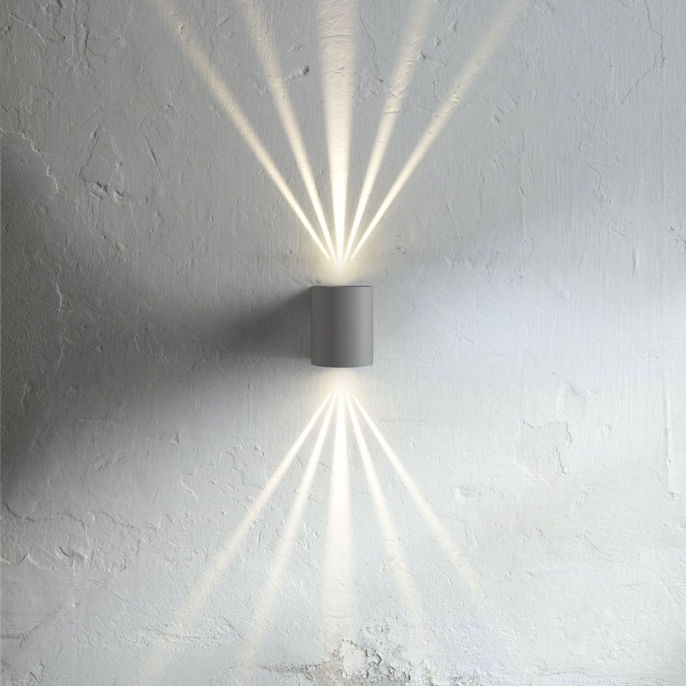 nordlux led wandlampe canto grau effekt wandleuchte aussenlampe ehem vk101 in garten. Black Bedroom Furniture Sets. Home Design Ideas