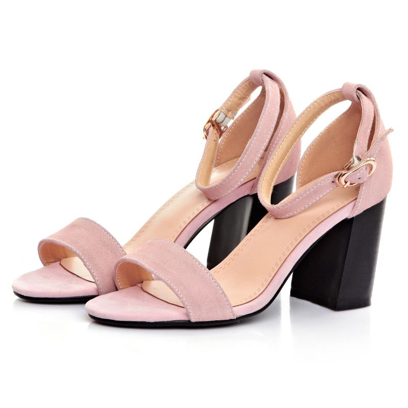 6e5dbf7472d New thick heel medium heel sandals women pumps open toe sexy heels sandals  summer style elegant