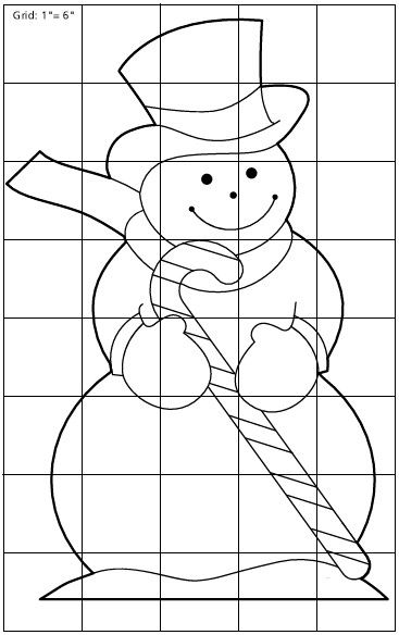 Patterns For Outdoor Christmas Decorations Snowman Yard