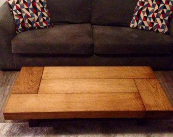 Oak Coffee Table Sleeper Rustic Dark Wood