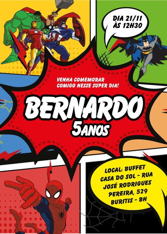 Pin De Erika Zaragoza En Súper Heroes Superhero Birthday Party