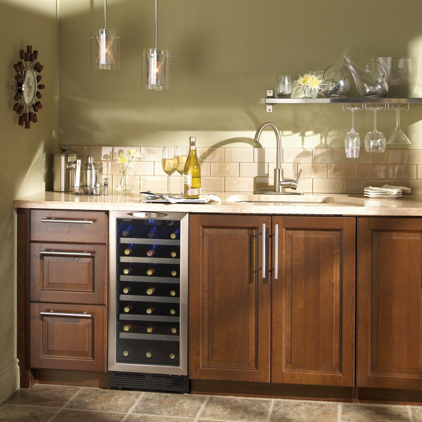 kitchen wine coolers | inch under counter wine cooler ...