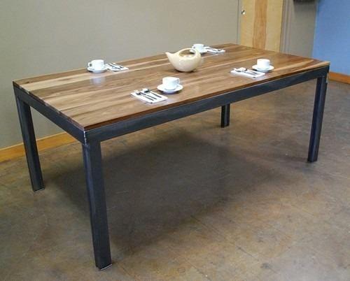 Mesas comedor de hierro y madera - Mesas madera y hierro ...