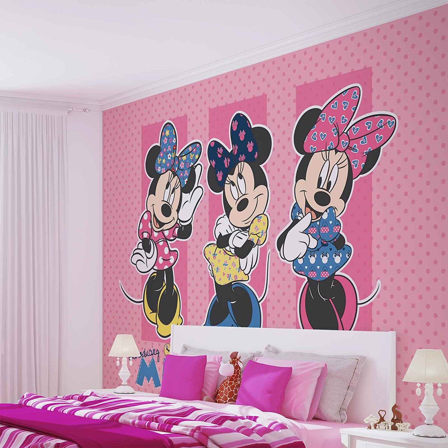 Wallpaper Kinderzimmer minnie mouse forwall fototapete tapete fotomural mural