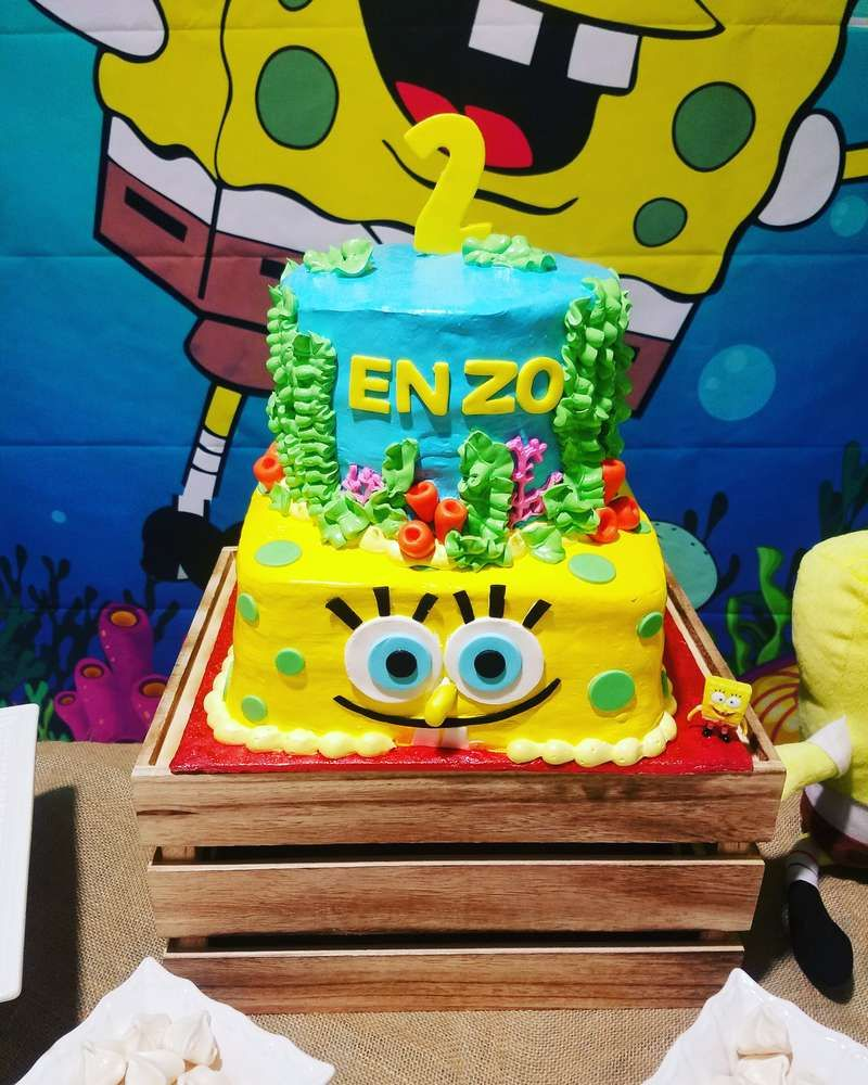 Excellent Spongebob Squarepants 2Nd Birthday Birthday Party Ideas With Funny Birthday Cards Online Alyptdamsfinfo