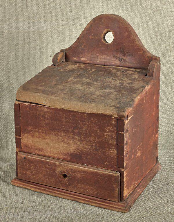 Painted Pine Hanging Salt Box