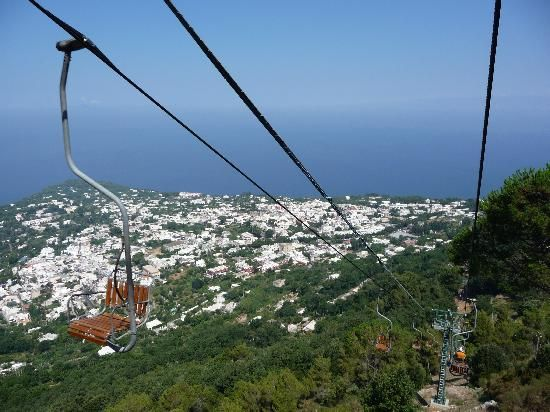mount solaro anacapri chairlift we did this on our honeymoon